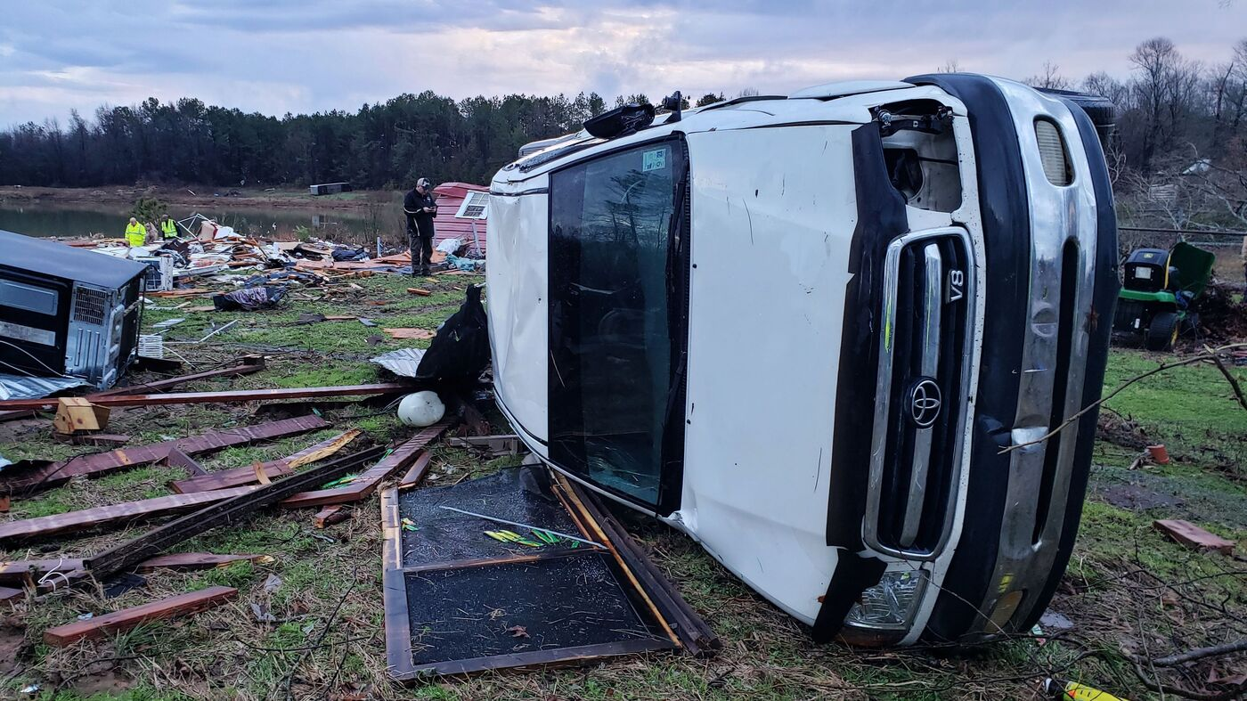 Deadly Storms Sweep Through Southern United States, Leaving At Least 9 Dead - NPR