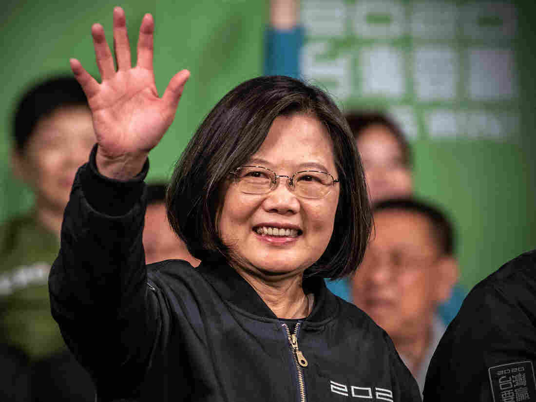 Westlake Legal Group gettyimages-1193087929-e78361a435b86fcbf1563d0458d8205f21b9ccd1-s1100-c15 Rebuking China, Taiwan Votes To Reelect President Tsai Ing-wen