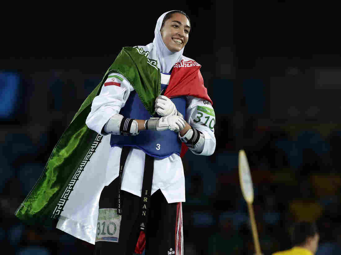 Westlake Legal Group ap_16232103039926-d07f2ccd696803b2fbd5e57325295e0f45c9c088-s1100-c15 Iran's Only Female Olympic Medalist Says She Has Defected