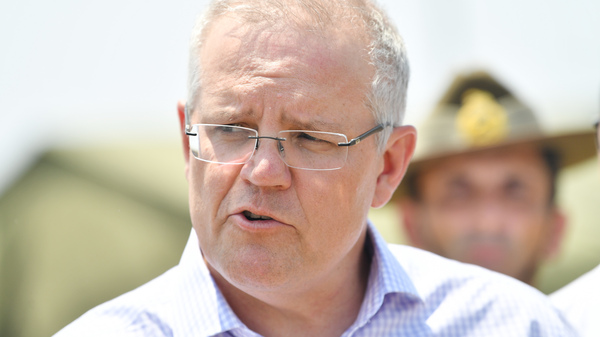 Australian Prime Minister Scott Morrison is seen here last week visiting Kangaroo Island, which was devastated by wildfires.