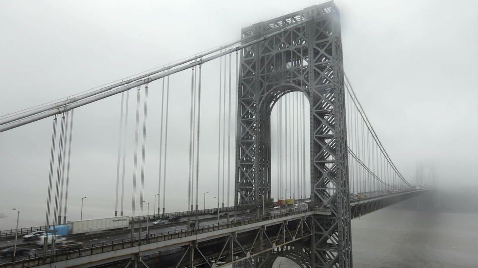Traffic crosses the George Washington Bridge in Fort Lee, N.J. The bridge made headlines in 2013 when two access lanes were shut down, creating gridlock — and a political scandal. (Richard Drew/AP)