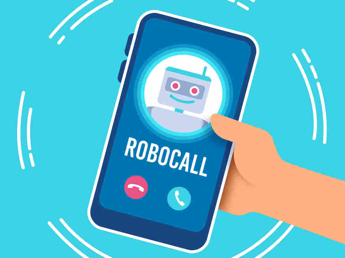 Robocall telephone call receiving a marketing or sales or political advertising phone call.