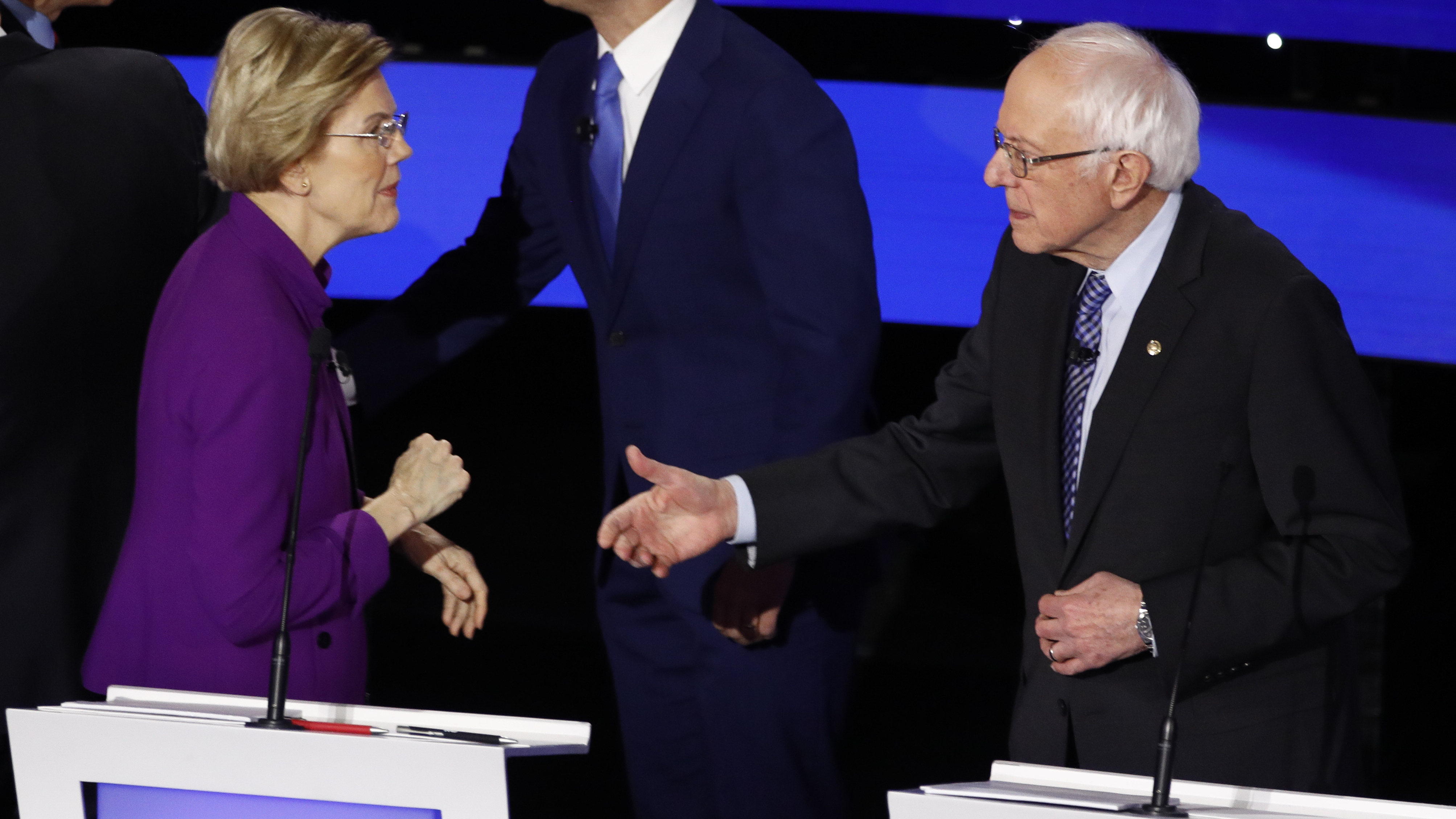 After Debate, Warren Told Sanders: 'I Think You Called Me A Liar'