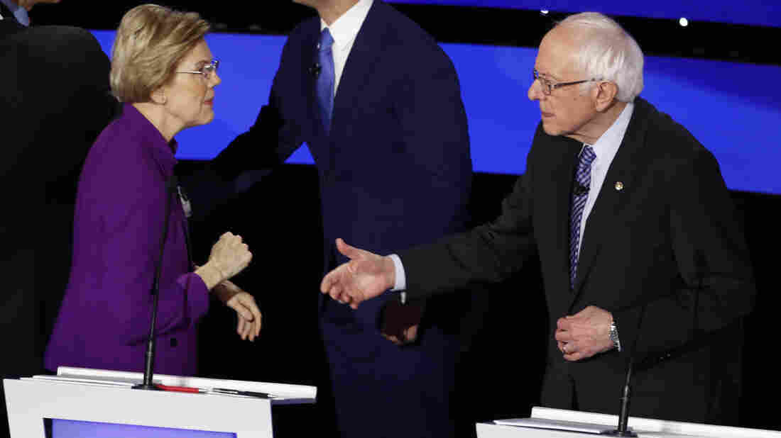 Westlake Legal Group ap_20015154017665_wide-e01e09fbdeeb4c01ee4f6c5f05c633293a535597-s1100-c15 After Debate, Warren Told Sanders: 'I Think You Called Me A Liar'