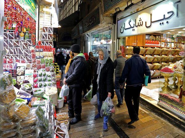 Iranians shop in the Tajrish Bazaar in Tehran in November.