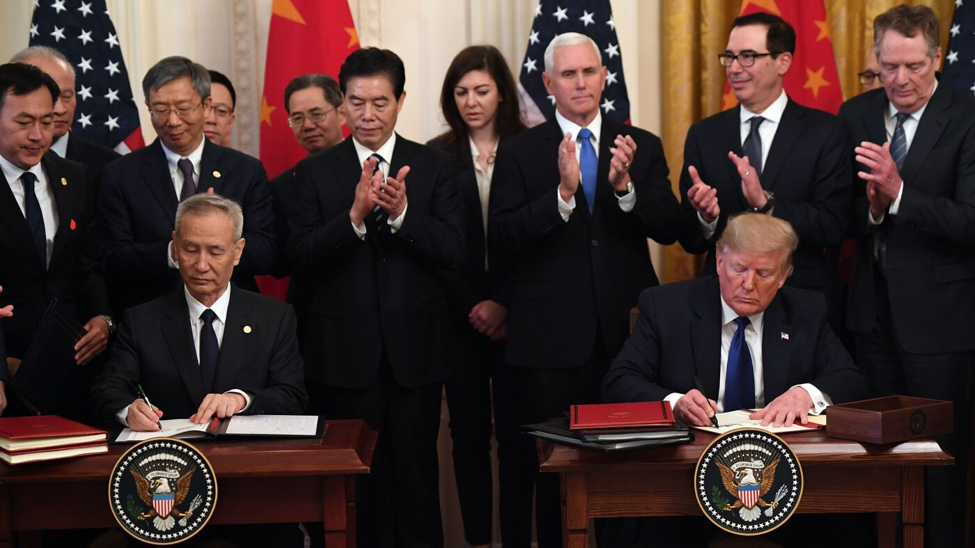 Trump Signs 'Phase 1' China Trade Deal, But Most Tariffs Remain In Place