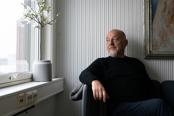 Rune Rafaelsen sits in his office in Kirkenes. The mayor was born and bred in the small town.