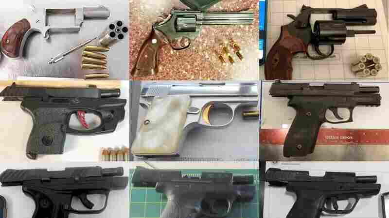 TSA Says It Seized A Record Number Of Firearms At U.S. Airports Last Year