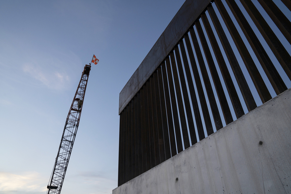 A new section of the border wall is seen in November 2019 south of Donna, Texas. Trump's 576-mile border wall is expected to cost nearly $20 million per mile, which is more expensive than any other wall under construction in the world. (Verónica G. Cárdenas for NPR)