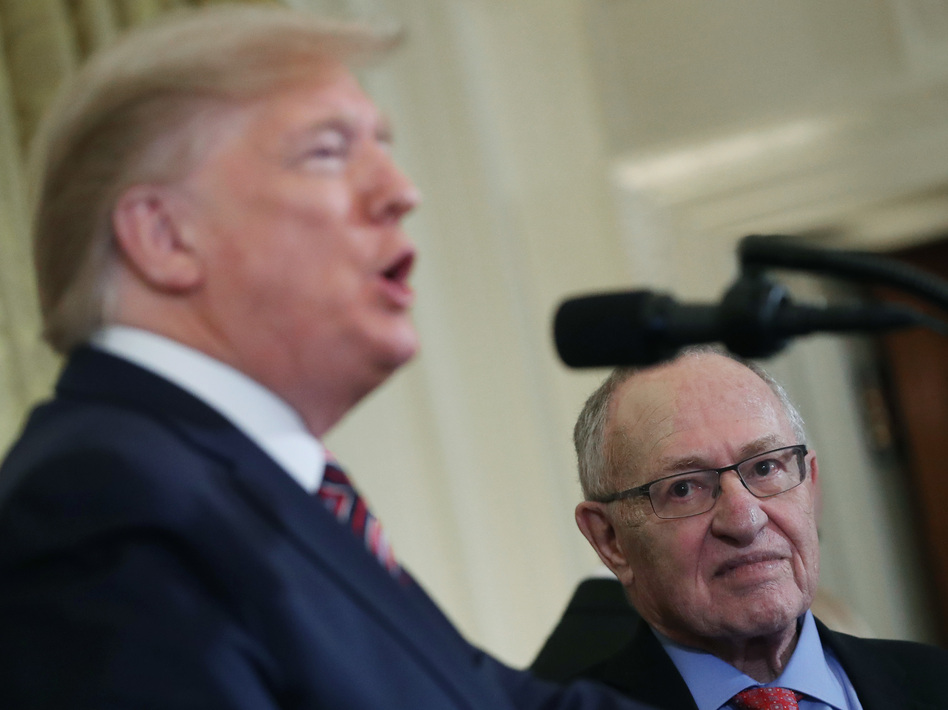 Alan Dershowitz told NPR on Friday he would make constitutional arguments for President Trump at his Senate impeachment trial. (Mark Wilson/Getty Images)