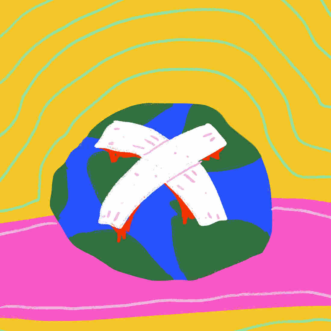 bandaged earth
