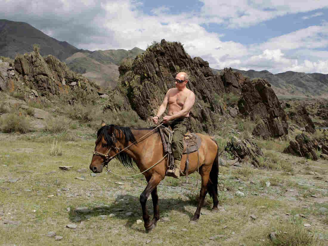 Vladimir Putin rides a horse during his vacation in Southern Siberia in 2009. Since rising to power, Putin has been able to control and use Russian media as a propaganda tool.