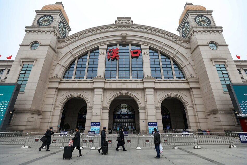 The Hankou Railway Station in Wuhan, China, was closed as part of a shutdown of public transportation — an effort to control the spread of what's being called the Wuhan coronavirus. (Barcroft Media via Getty Images)