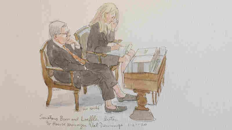 Sketch Artist Captures 'Something Unusual' At Senate Trial