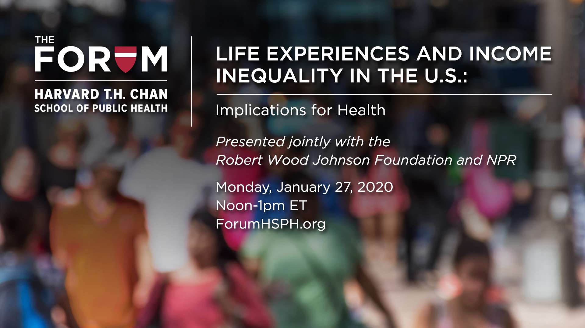 Webcast: Health Implications Of Income Inequality