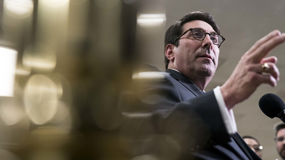 "On Friday, Jay Sekulow, personal attorney for President Trump, said Saturday's presentation was expected to set the stage for the ""coming attractions."" (Sarah Silbiger/Bloomberg via Getty Images)"
