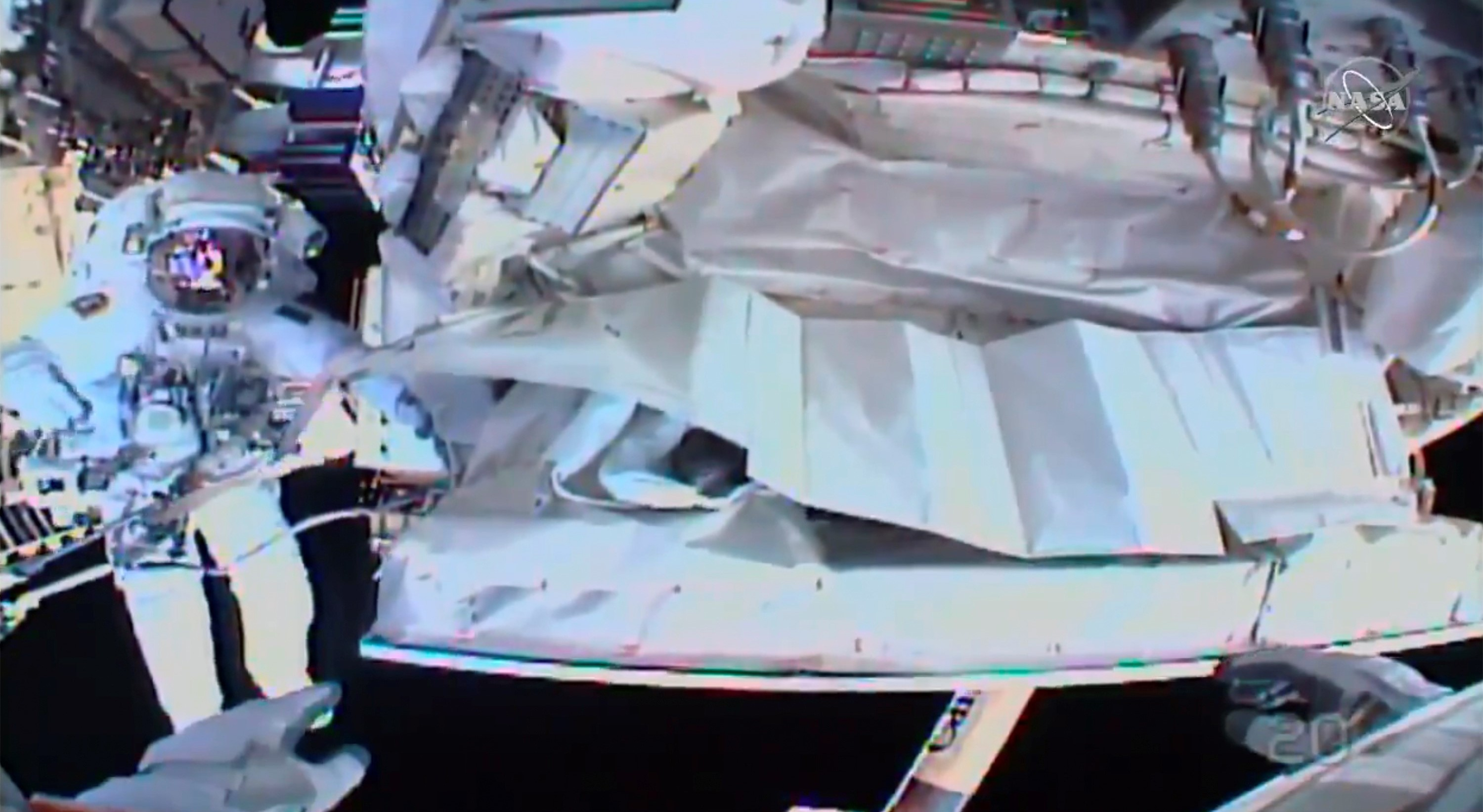 Space Walk Underway For Final Fix Of International Space Station Device