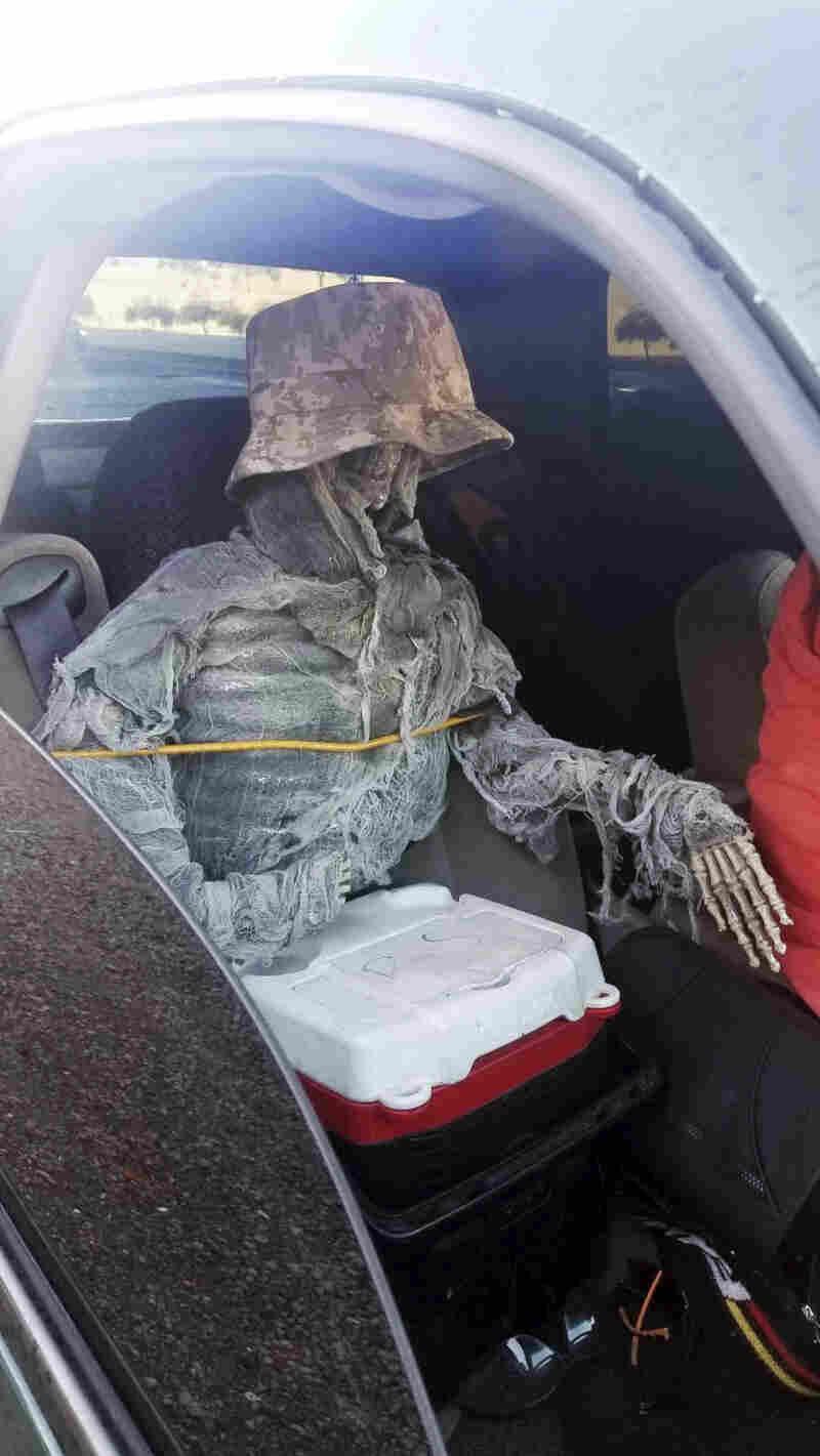 Arizona Man Caught Driving In The HOV Lane With Fake Skeleton Riding Shotgun