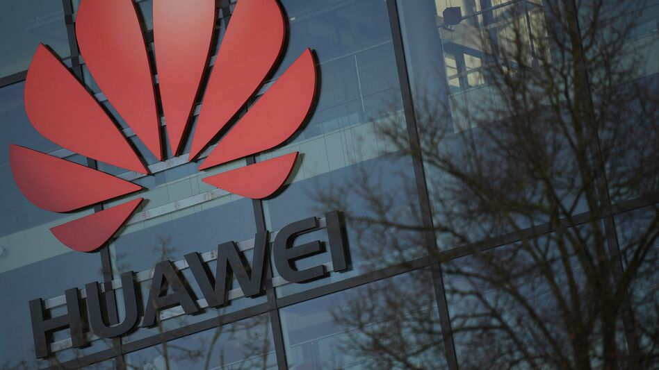 "The U.S. is ""disappointed"" by the U.K.'s decision to allow Huawei to be part of its 5G network, a senior Trump administration official told NPR. (Daniel Leal-Olivas/AFP via Getty Images)"