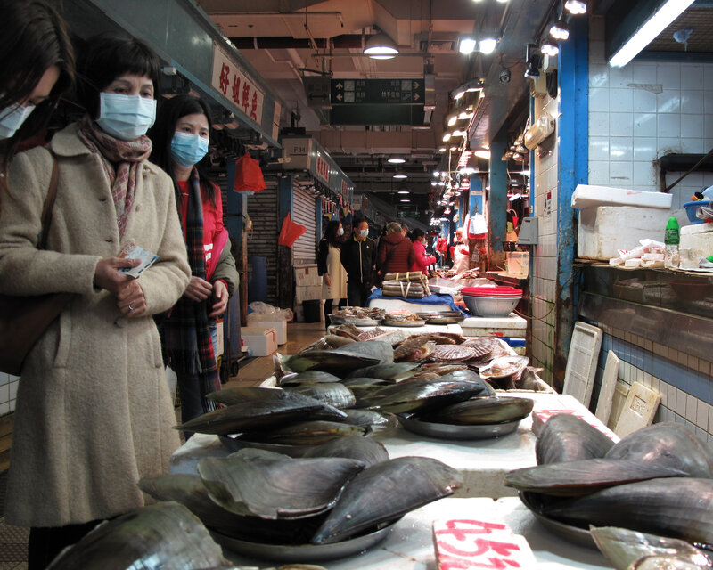 Image result for sea food market wuhan