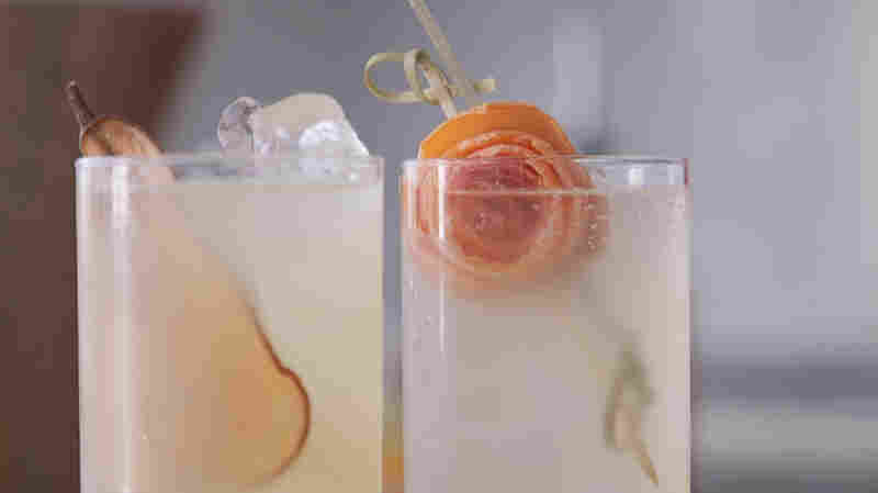 How to make a nonalcoholic version of a Tom Collins.