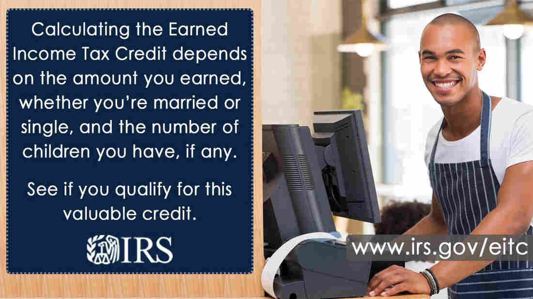 An IRS advertisement for the EITC
