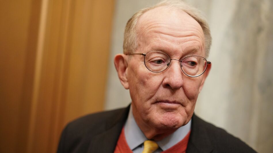 Sen. Lamar Alexander, R-Tenn., arrives for the impeachment trial of President Trump at the Capitol on Friday. Alexander, a key vote in the trial, says he plans to vote no on hearing witnesses. (Mandel Ngan/AFP via Getty Images)