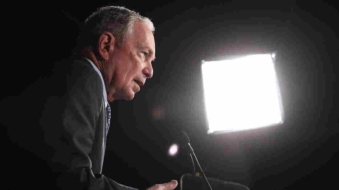 Trump bashes Bloomberg; Dem's campaign calls Trump a `liar'