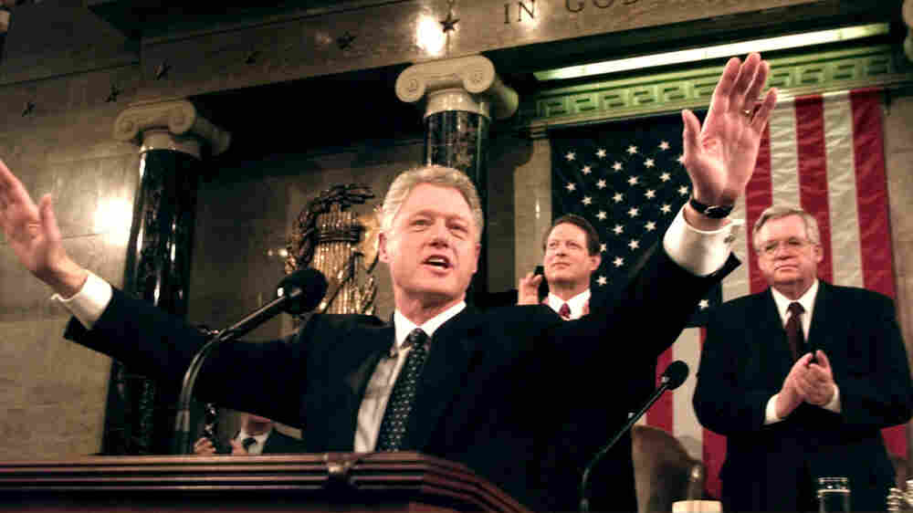 Trump Delivers State Of The Union As Impeachment Vote Looms. So Did Clinton