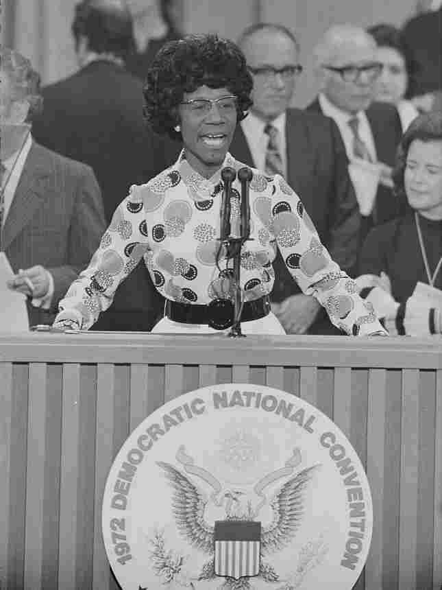 Shirley Chisholm thanks delegates at the Democratic National Convention, Miami Beach, Fla., on July 12, 1972. She would place fourth overall at the convention.