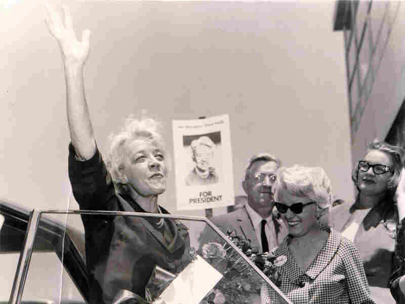 U.S. Sen. Margaret Chase Smith arrives at the Republican National Convention in San Francisco during her candidacy for the Republican presidential nomination in July 1964.
