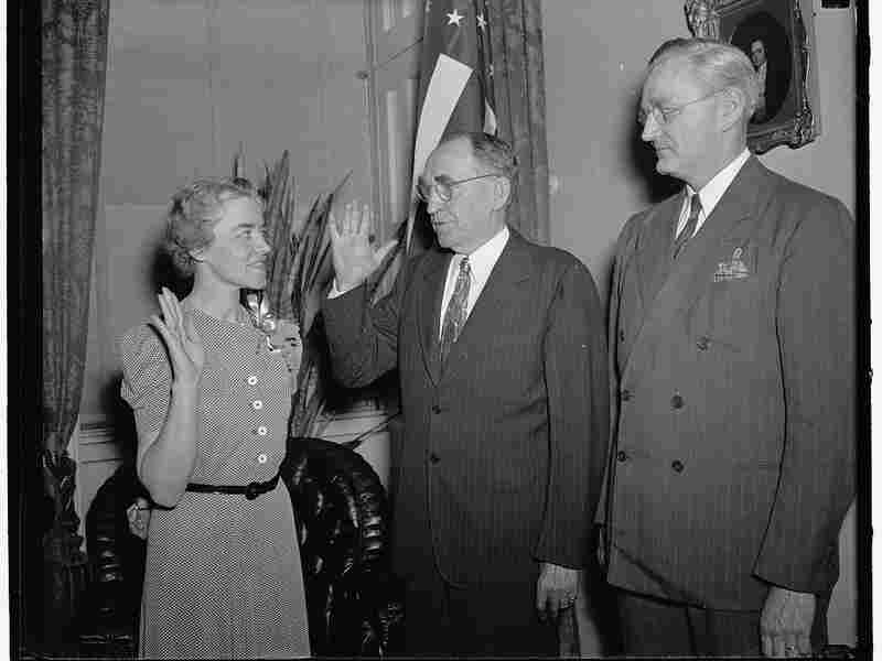 Margaret Chase Smith was sworn in to the U.S. House of Representatives on June 10, 1940, to fill the vacancy left by her husband, Clyde Smith.