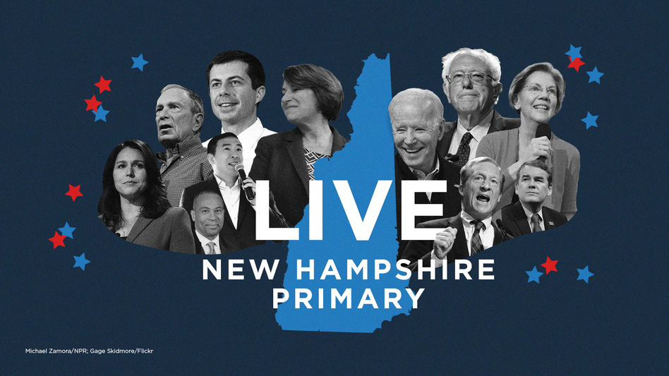 The New Hampshire 2020 primary is on Tuesday. (Michael Zamora, Caroline Amenabar/NPR; Gage Skidmore/Flickr )