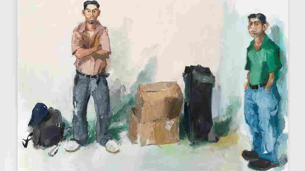 Artist Says His Portraits Of Day Laborers Are Paintings — Not Statements