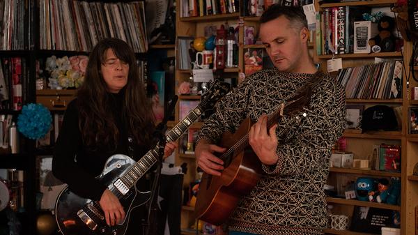 Mount Eerie plays a Tiny Desk Concert (Laura Beltran Villamizar/NPR).