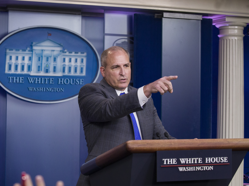 Acting Customs and Border Protection director Mark Morgan speaks with reporters in the briefing room at the White House, on Nov. 14, 2019. (Alex Brandon/AP)