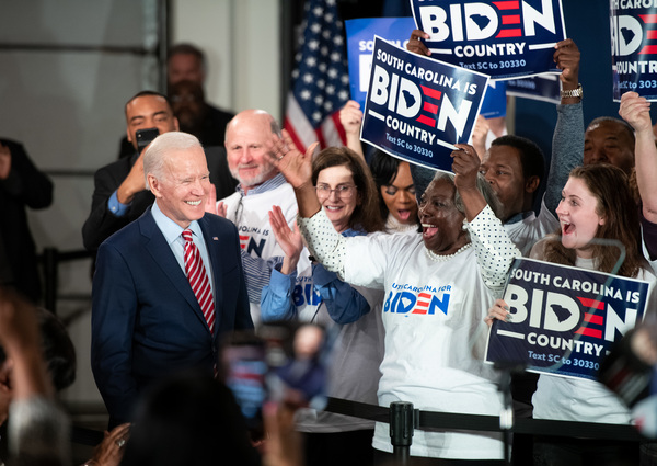 Biden has one last shot in South Carolina, and that's where he was on Tuesday night instead of waiting for results in New Hampshire.