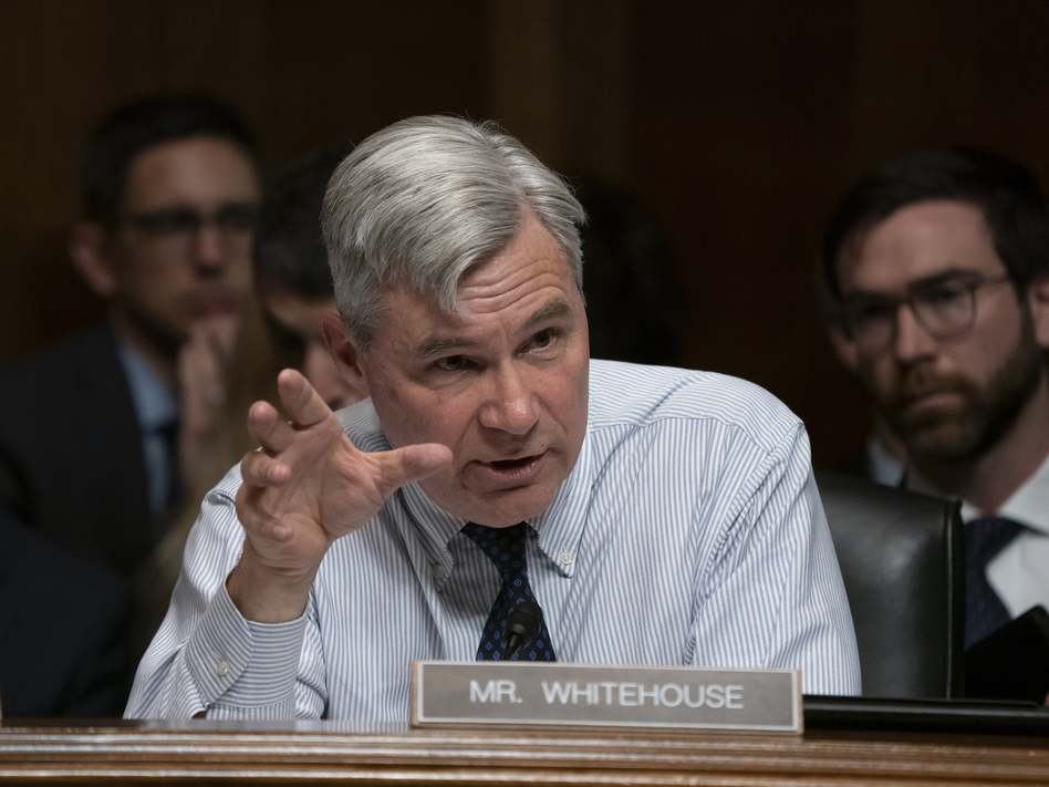 Sen. Sheldon Whitehouse, D-R.I., is among nine Democratic members of the Senate Judiciary Committee who signed a letter accusing the Trump administration of politicizing the immigration courts. (J. Scott Applewhite/AP)