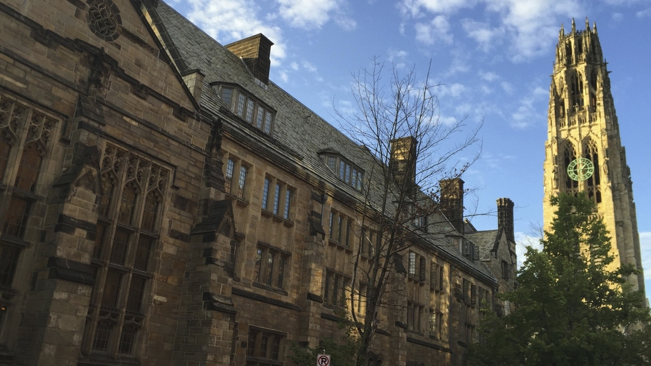 Harkness Tower on Yale University's campus in 2016. The Department of Education said Yale failed to disclosed a total of $375 million in foreign money. (Beth Harpaz/AP)