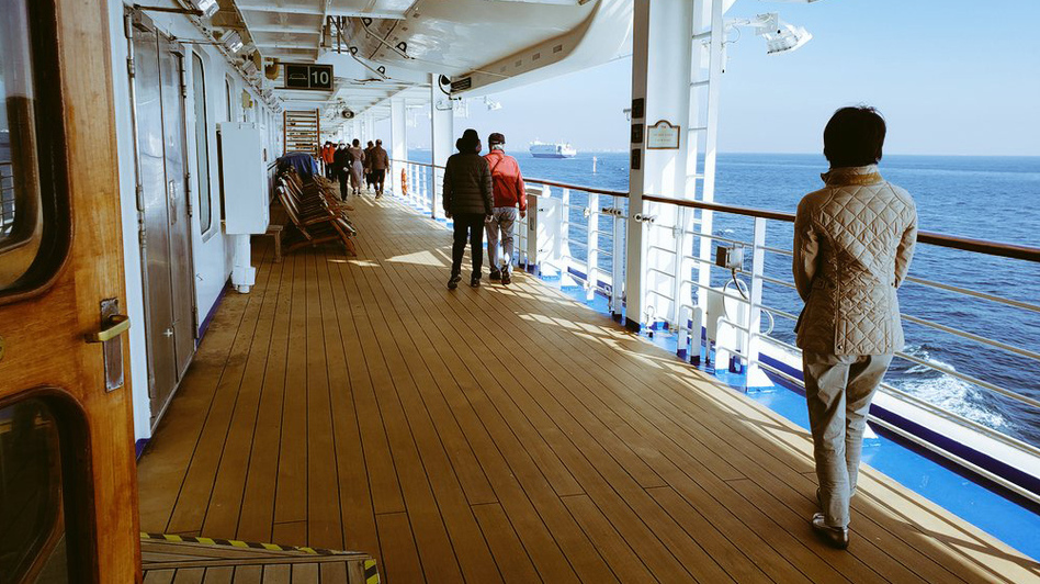 Many passengers aboard the Diamond Princess cruise ship have created online groups to share news and encourage each other. And in some cases, they've formed lasting friendships. (@daxa_tw/via Twitter)
