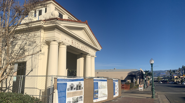 """The Santa Fe Rail Depot in downtown Redlands, Calif., is the center of one of three """"transit villages"""