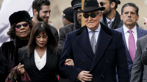 Roger Stone Sentenced To More Than 3 Years Amid Furor Over Trump And DOJ