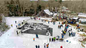 In Maine, Residents Slice Through Thick Ice To Keep A Tradition From Melting Away