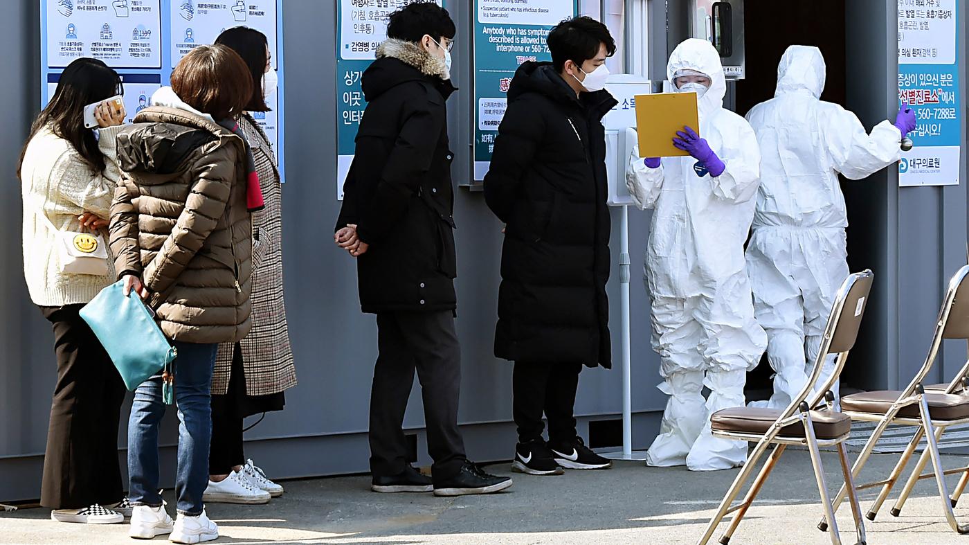 South Korea's Coronavirus Outbreak Linked To Secretive Church Group : Goats and Soda : NPR