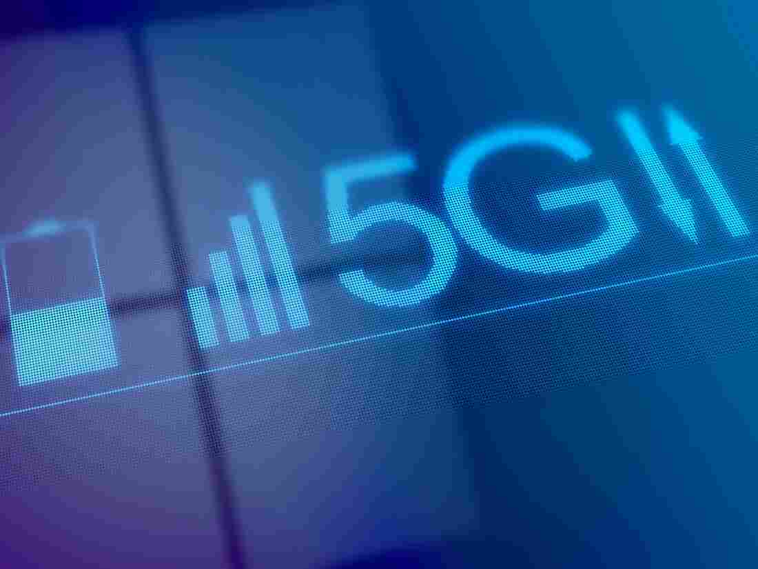 Conceptual illustration representing the new 5G mobile data network.