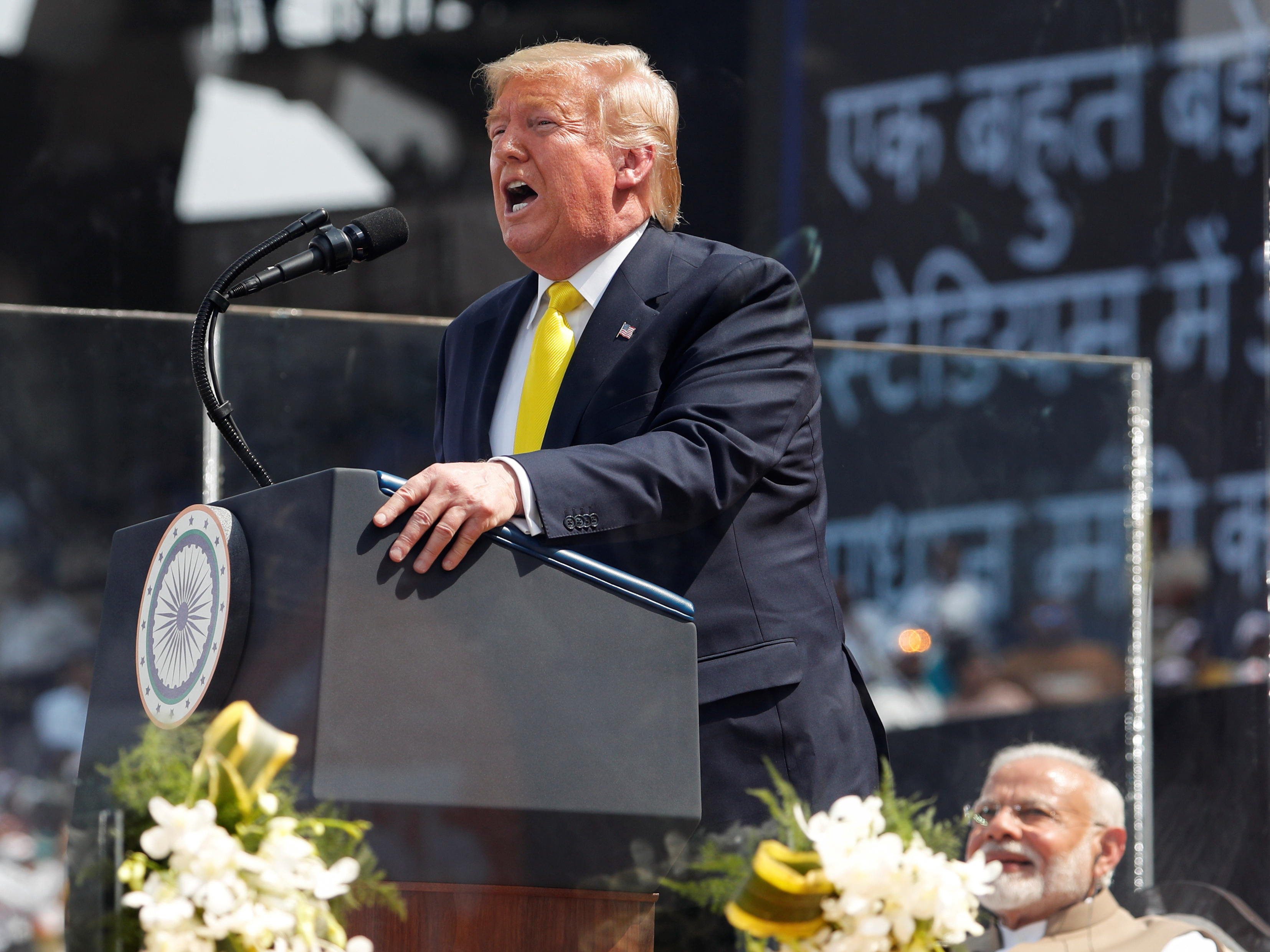 'Namaste Trump!' India's Modi Welcomes U.S. Leader With An Epic Party