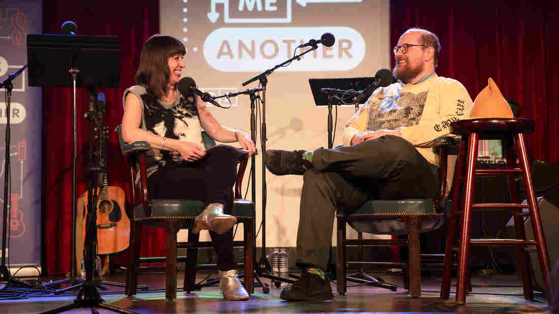 Ophira Eisenberg and Dan Deacon on Ask Me Another at the Bell House in Brooklyn, New York.