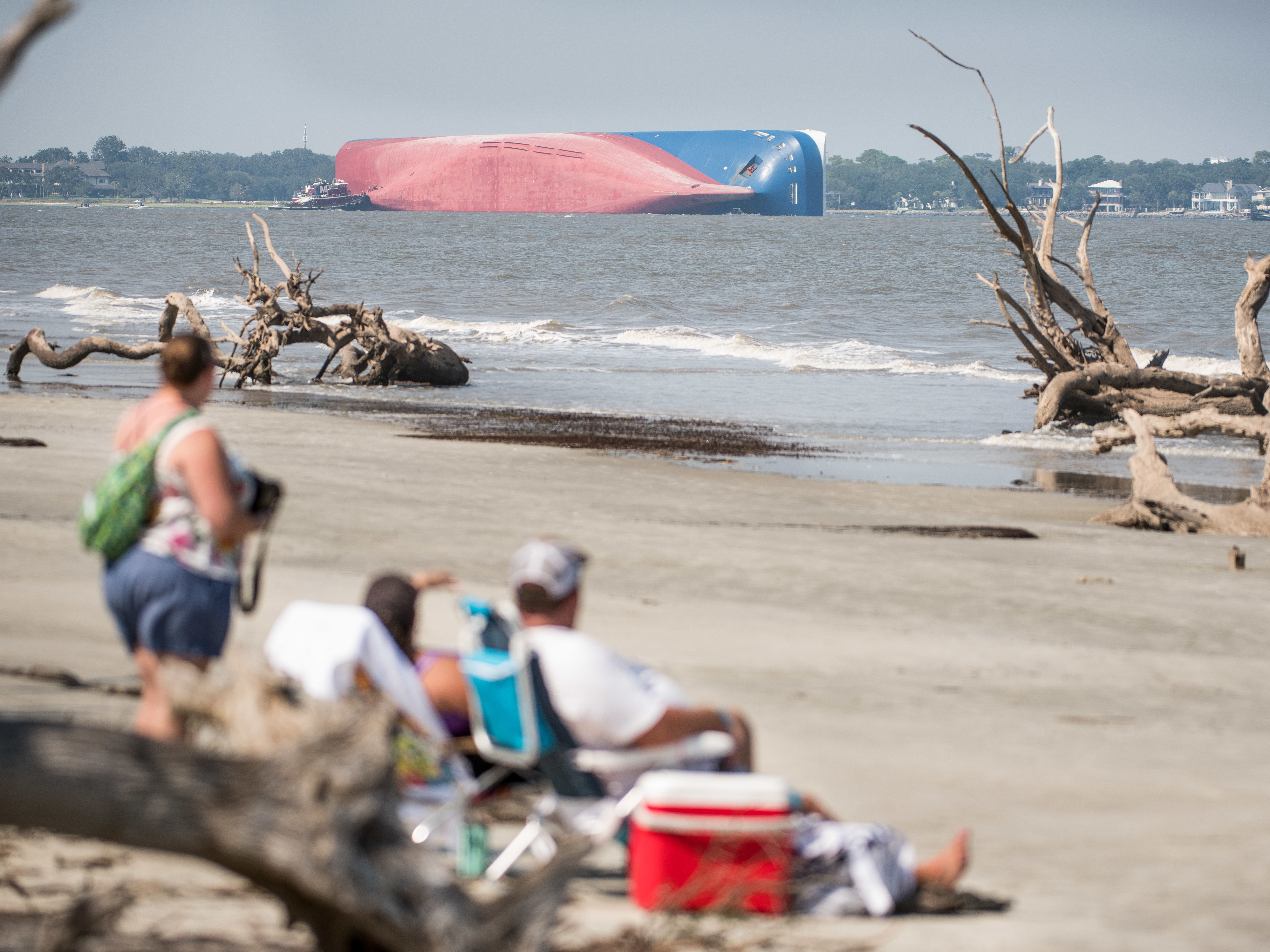 Overturned Cargo Ship Soon To Be Sliced Up And Removed From Georgia Sound