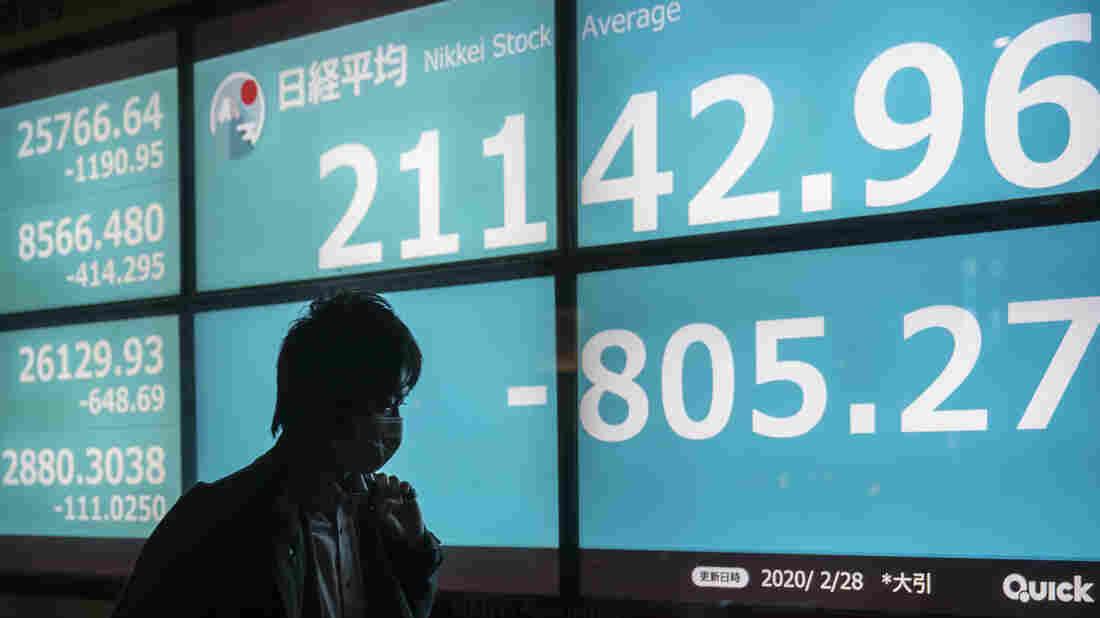 Dow Jones plunges over 1,000 points amid coronavirus fears