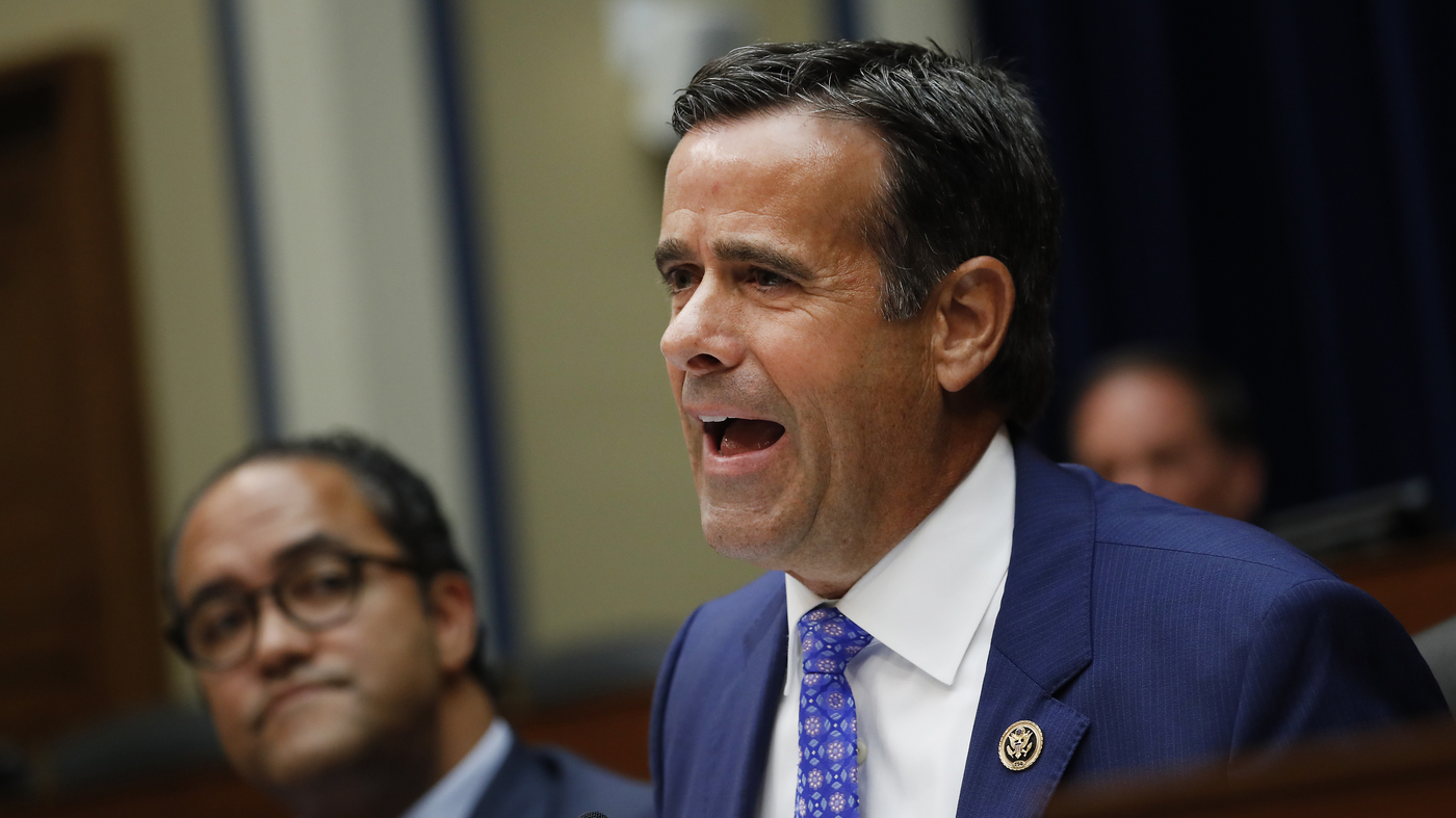 Trump To Nominate Rep. Ratcliffe To Top Intelligence Post : NPR